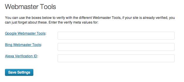 Yoast Google Webmaster Tools